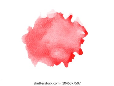 abstract red watercolor splashing background.color shades by hand pained on the paper