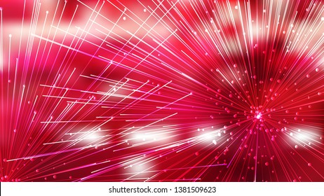 Abstract Red and White Asymmetric Irregular Lines Background Illustrator
