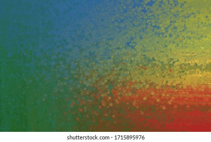 Abstract red yellow blue green pointillism background texture