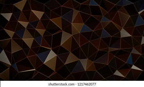 Abstract Reflected Brown Voronoi wall - High resolution 3d render