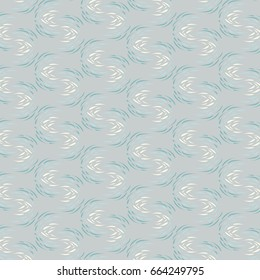 Abstract Repeat Pattern in Grey, Blue, Green - Swirls