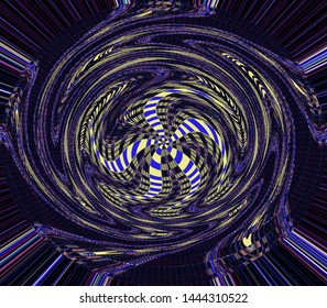 Abstract representation of the universe. The center of gravity in a colorful form.