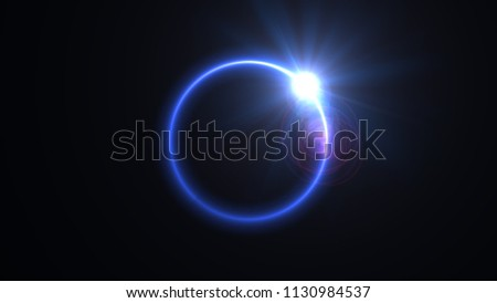 Abstract Ring Background Luminous Swirling Backdrop Stock