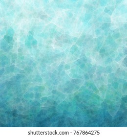abstract rippled water or waves illustration, blue green and white glassy reflections in pretty textured background design