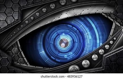 robot eye images stock photos amp vectors shutterstock