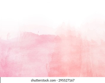Abstract romantic pink watercolor background