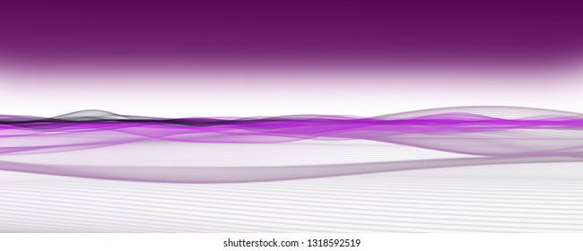 Abstract romantic wave panorama background design illustration