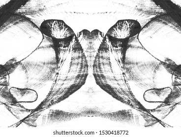 Abstract Rorschach Inkblot Test Symmetrical Watercolor - Illustration