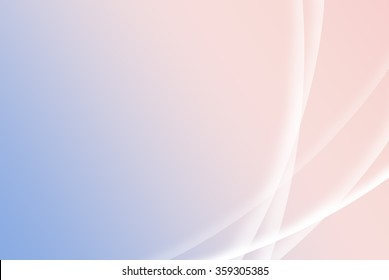 Abstract Rose Quartz and Serenity colored background with lines and curves. Soft simple pink and blue spring background with gradient.