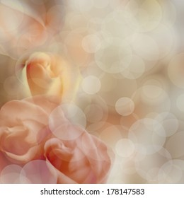 abstract roses background pastel color, beige