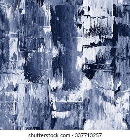 Abstract rough brush strokes grunge background. Seamless pattern.