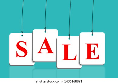 Abstract sale background illustration Stock Photo, business sale concept,