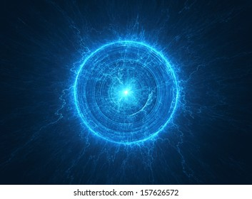 Abstract science background - Electromagnetic field - Tesla coil
