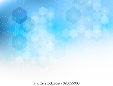 Abstract science Background. Hexagon geometric design.