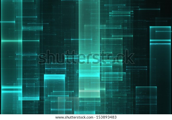 Abstract science fiction matrix like background