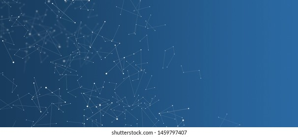 Abstract science futuristic background with empty space. Polygonal chaotic structure, conections, chemistry, web visualization