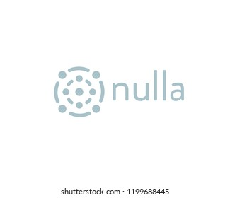 Abstract science tech logotype. Social media logo