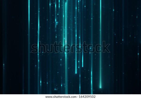 Abstract sci-fi matrix like futuristic modern line background