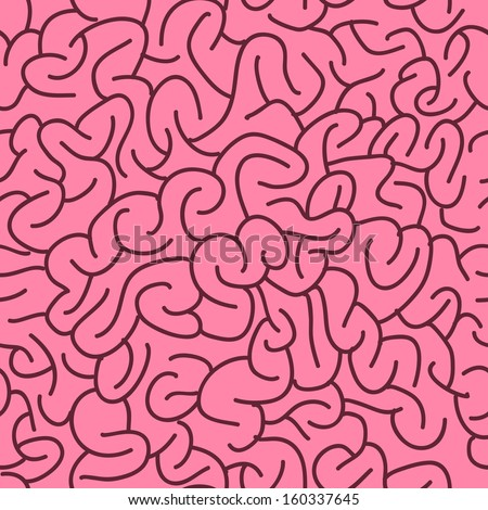 Abstract Seamless Brains Pattern