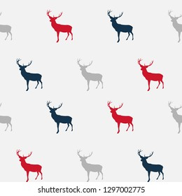 Abstract Seamless deer pattern background.  Illustration