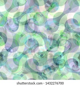 Abstract seamless pattern. Acrylic Background with swirl elemnts.