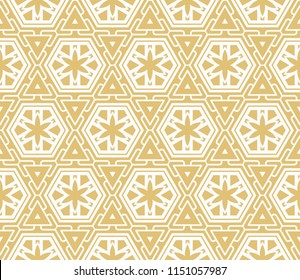 Abstract   seamless pattern with abstract geometric style. Repeating sample figure and line. For modern interiors design, wallpaper, textile industry