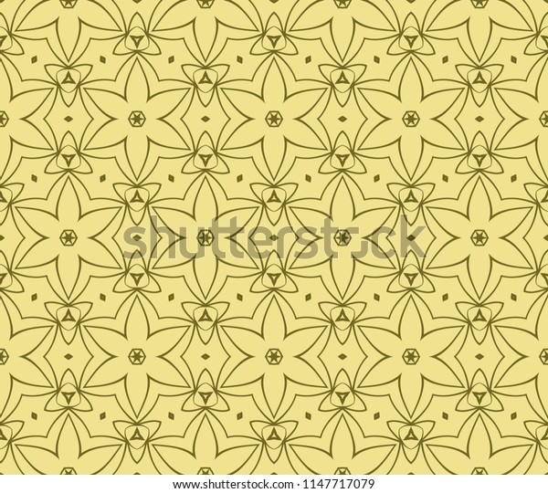 Abstract   seamless pattern with abstract geometric style. Repeating sample figure and line. For interiors design, wallpaper, textile industry