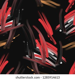 Abstract Seamless Pattern. Hand Painted Brush Strokes. Artistic Background.