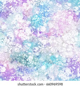 Abstract seamless pattern. Marble colorful art background texture in blue colors.