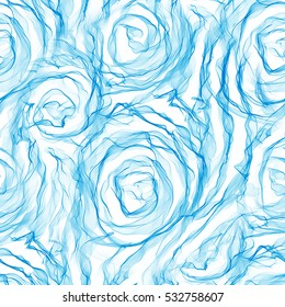 Abstract seamless pattern. Roses blue background texture. Textile print, package design, fabric and fashion concepts.