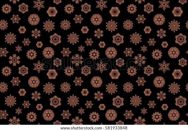 Abstract seamless snowflakes design. Seamless background. Snowflakes seamless pattern with watercolor effect. Textile print for bed linen, jacket, package design, fabric and fashion concepts.