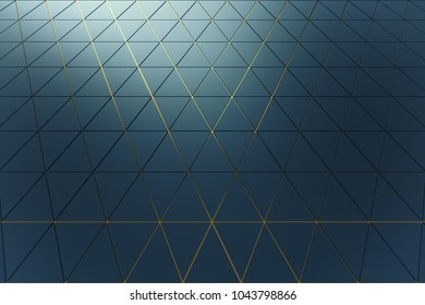 Abstract shape 3D holographic background of triangles