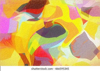 Abstract shapes- digital painting stylization.