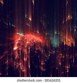 フラクタルテクスチャーで作られた抽象的なシェイプ。