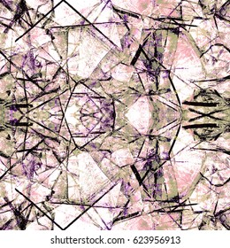 Abstract Shattered Glass Print  Seamless Pattern in Repeat