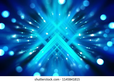 Abstract shining blue bokeh background. Fashionable illustration.