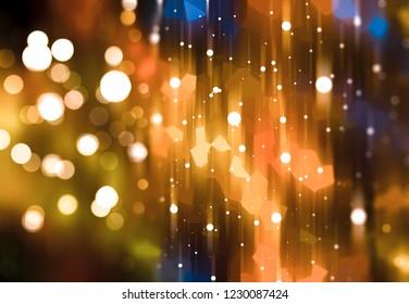 Abstract shining gold bokeh background. Fashionable illustration.