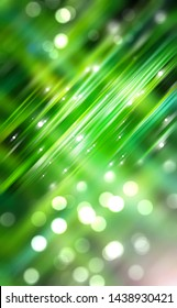 Abstract shining green bokeh background. Fashionable illustration.