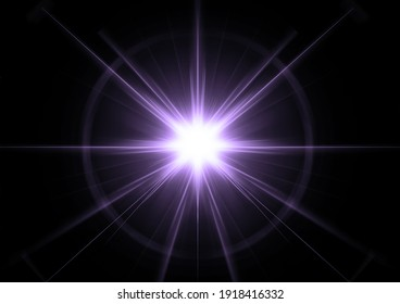 Abstract shining star in the concept of science