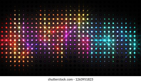 Abstract shiny background. Colorful glowing lights. Graphic glossy 2D illustration.