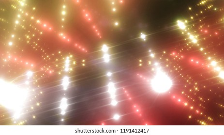 abstract shiny gold background with beams and stars. illustration digital.