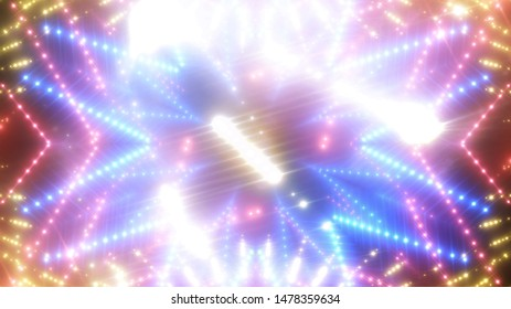 abstract shiny pink background with beams and stars. illustration digital.