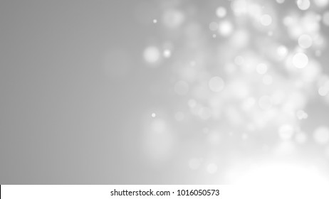 Abstract silver bokeh. Digital background. 3d rendering