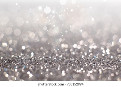 Abstract of silver bokeh light background