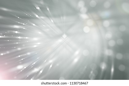 Abstract silver defocused with particles. Fashionable background illustration.