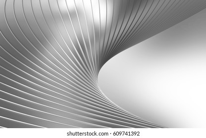 Abstract Silver Metal Background. 3D Rendering