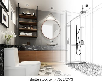 Bathroom Sketch Images, Stock Photos & Vectors | Shutterstock