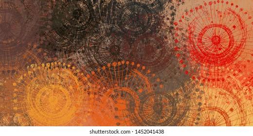 Abstrakte Skizze zufällig Muster. Chaos und Vielfalt. Modernes Malerei. 2. Abbildung. Digitales Hintergrundbild. Die künstlerische Skizze zeichnet Hintergrundmaterial.