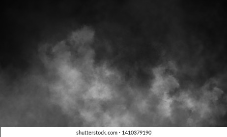Abstract smoke steam moves on a black background . The concept of aromatherapy