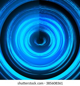 Abstract smooth light dark blue circle background. Water waves. spiral, braid, whorl